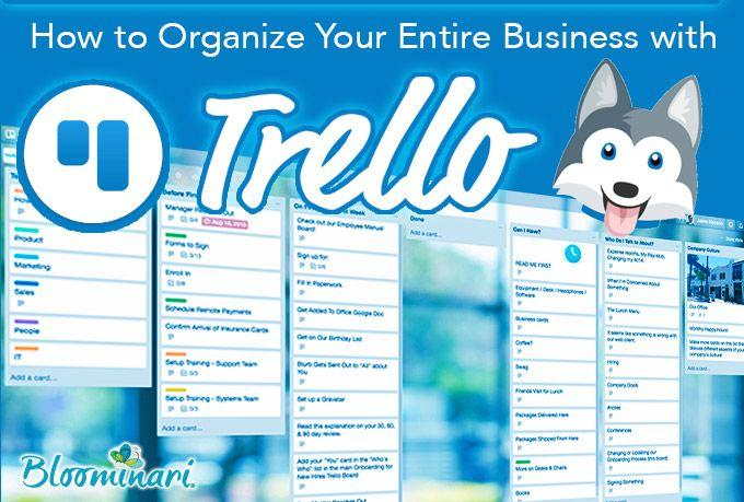how to organize projects on Trello san diego web design