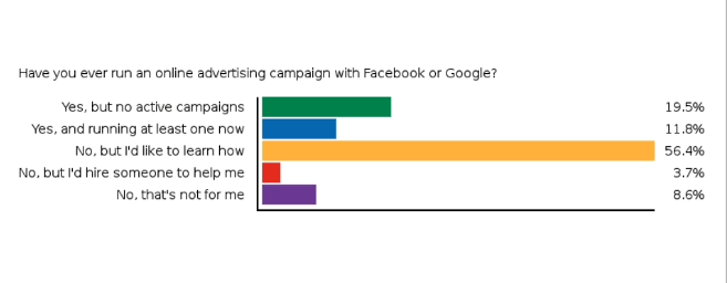have your run an advertising campaign with google or facebook?