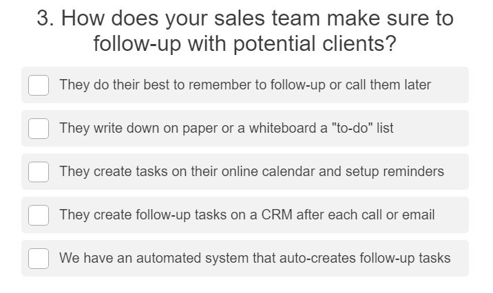 How does your sales team follow-up?
