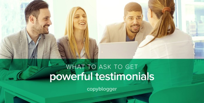 testimonial success stories email marketing