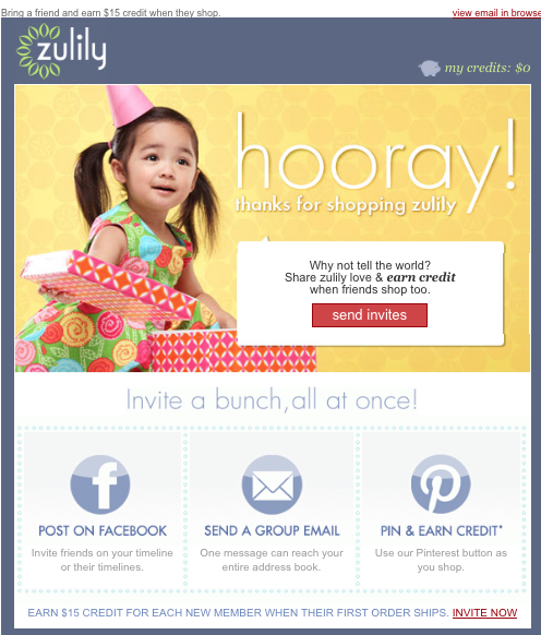 Zulily Email