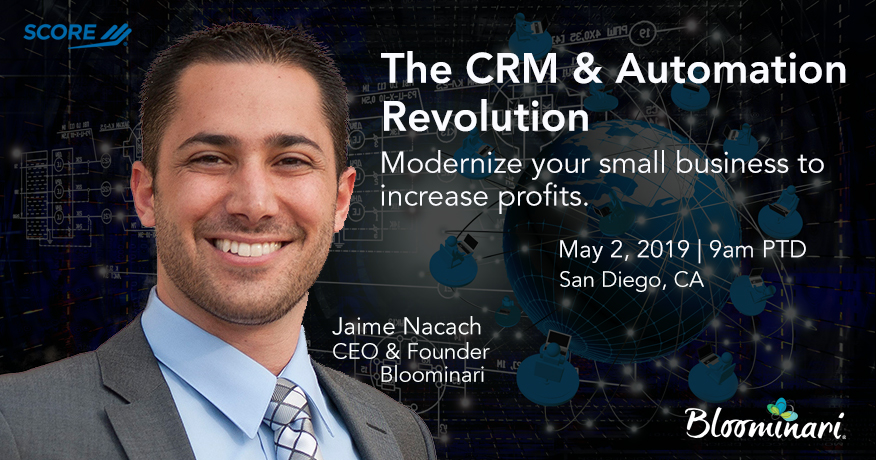 CRM automation revolution event San Diego, CA. May 2, 2019