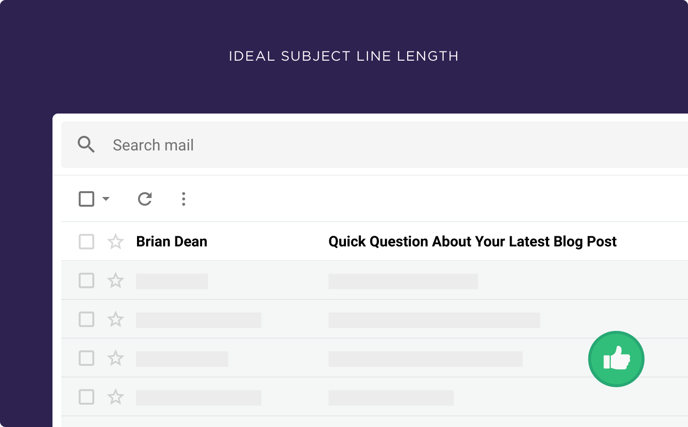 subject line length
