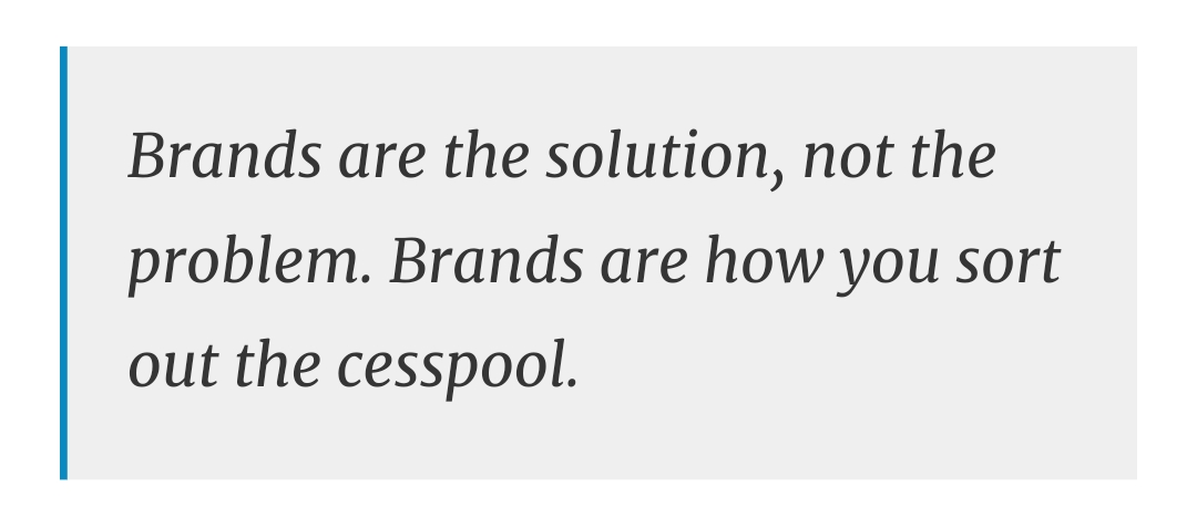 Brands are the solution