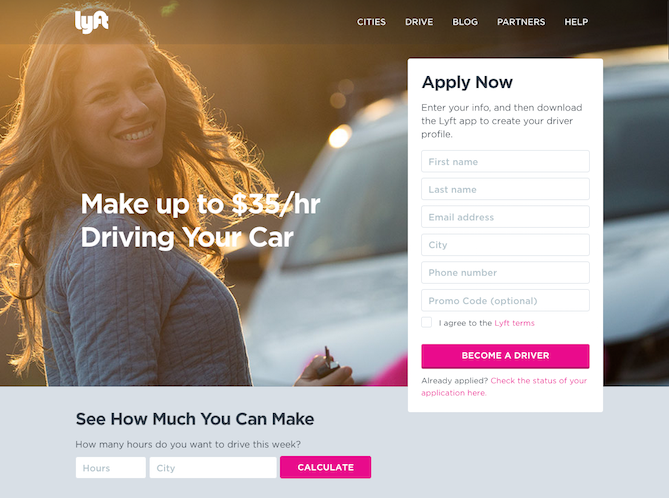 Lyft Website