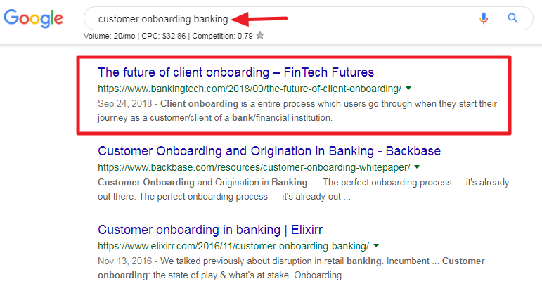 Customer onboarding banking