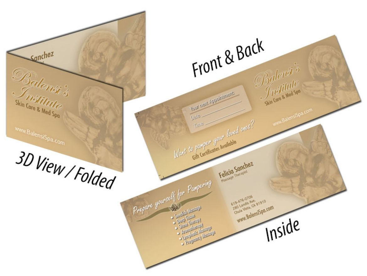 Balensi spa business cards 2 reheart Images