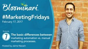 marketing fridays manual vs automated process