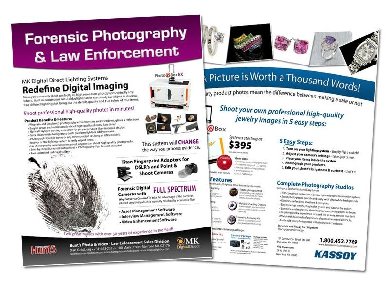 MK Digital product photography flyer